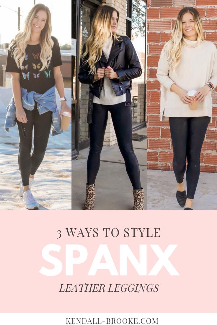 spanx, spanx leather leggings, leather leggings, ways to style